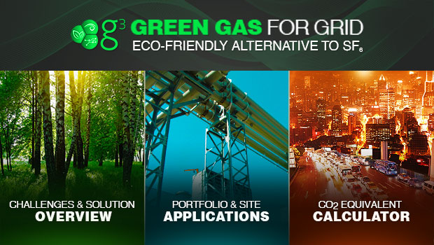 is GE's environmentally friendly alternative to SF6 gas for high-voltage  switchgear. This app allows you to explore the challenges of global warming mitigation and GE's solution.